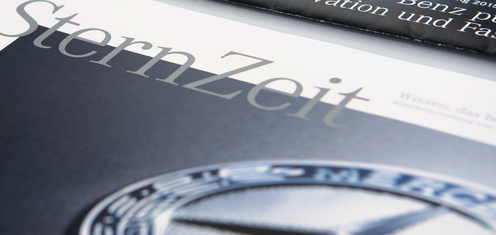 Editorial Design: Sternzeit, Mercedes Benz